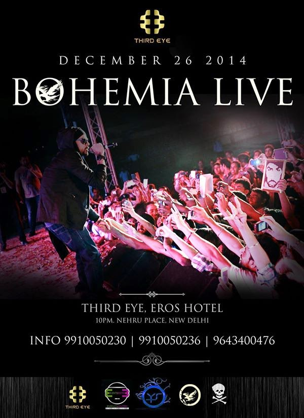 BOHEMIA - LIVE IN INDIA AT THIRD EYE - DECEMBER 26 2014 - Pesa Nasha Pyar