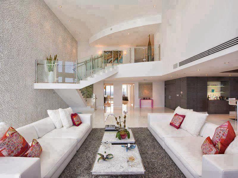 Salas De Estar Chiques E Modernas ~ Construindo Minha Casa Clean Salas de Estar e de TV Modernas!!!