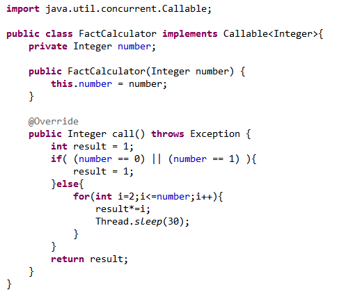Java-Latte: newFixedThreadPool, Callable and Future example in Java