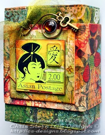 Asian Recycled Button Box