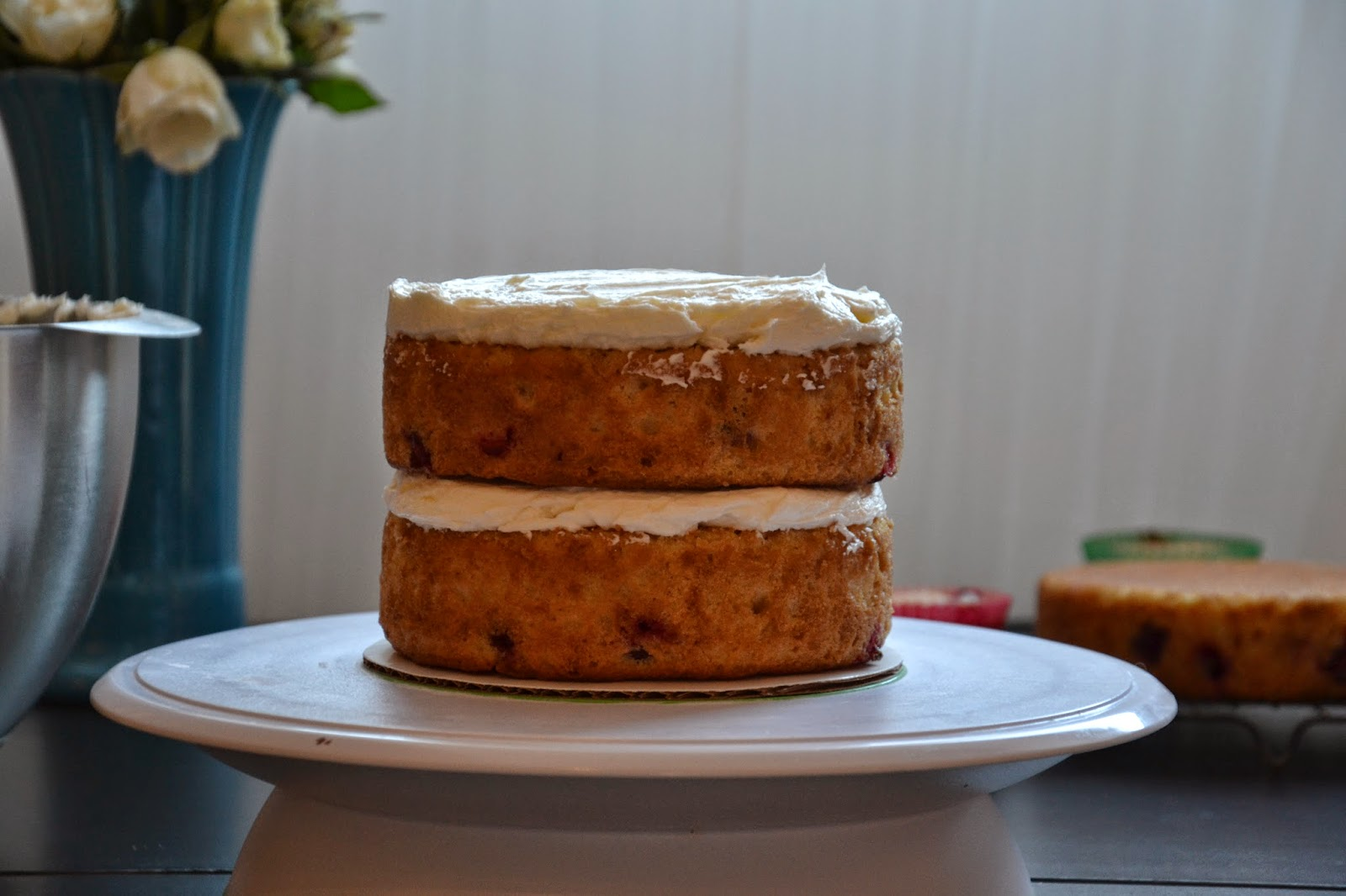 cake layer cakes by triple layer lemon cake recipe sandwiching a layer ...