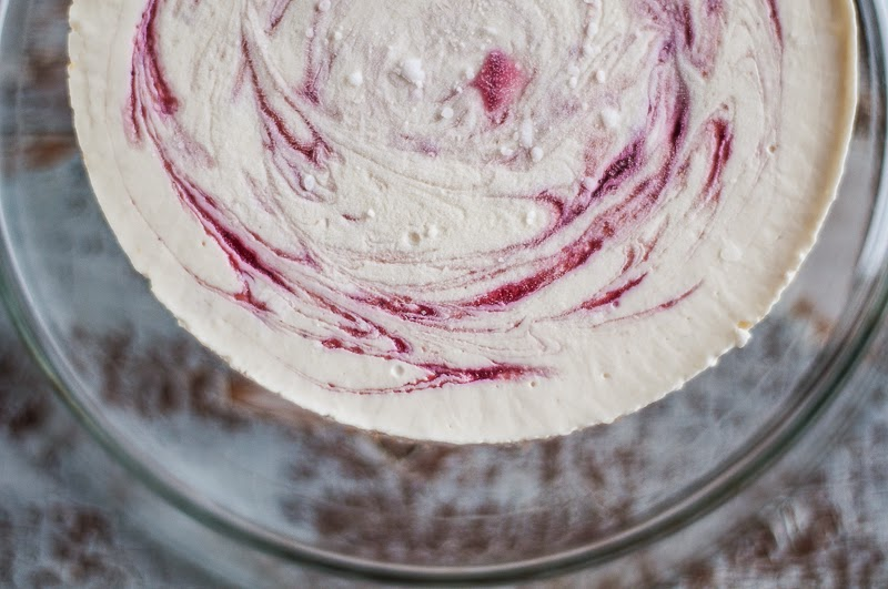 Plum Swirl Cheesecake