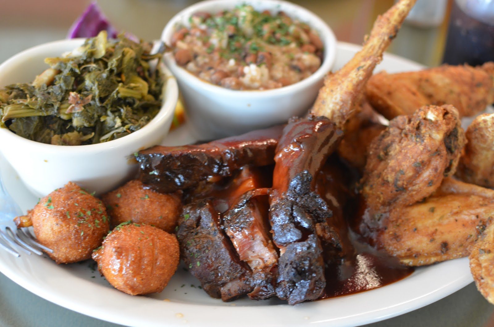 Po shines cafe de la soul push the plate for Side dishes to go with smoked chicken