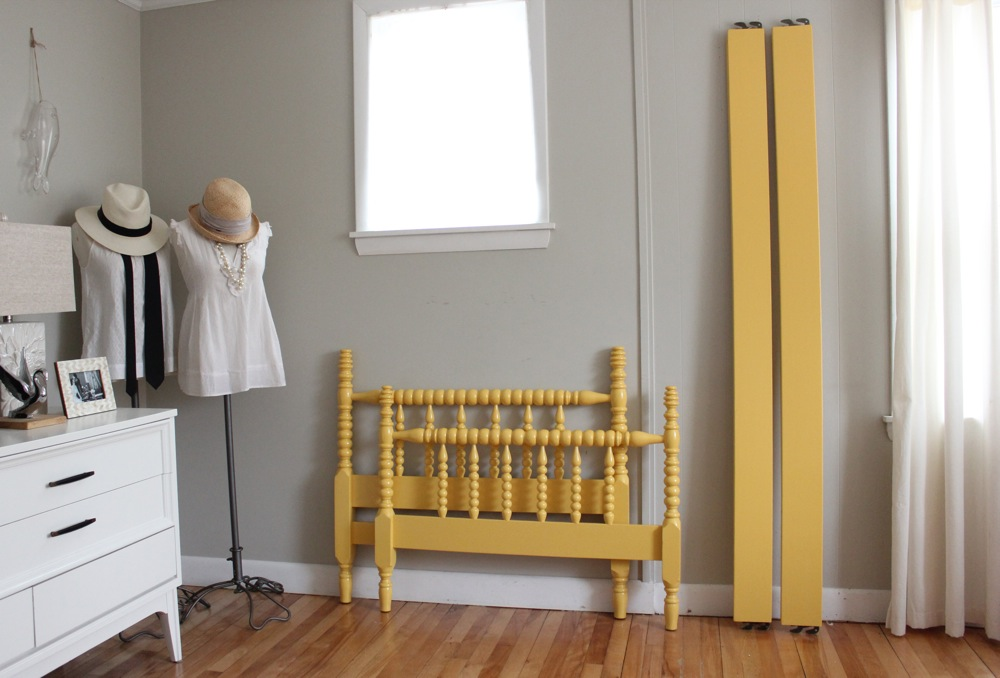 bluelamb furnishings yellow twin size jenny lind bed frame sold