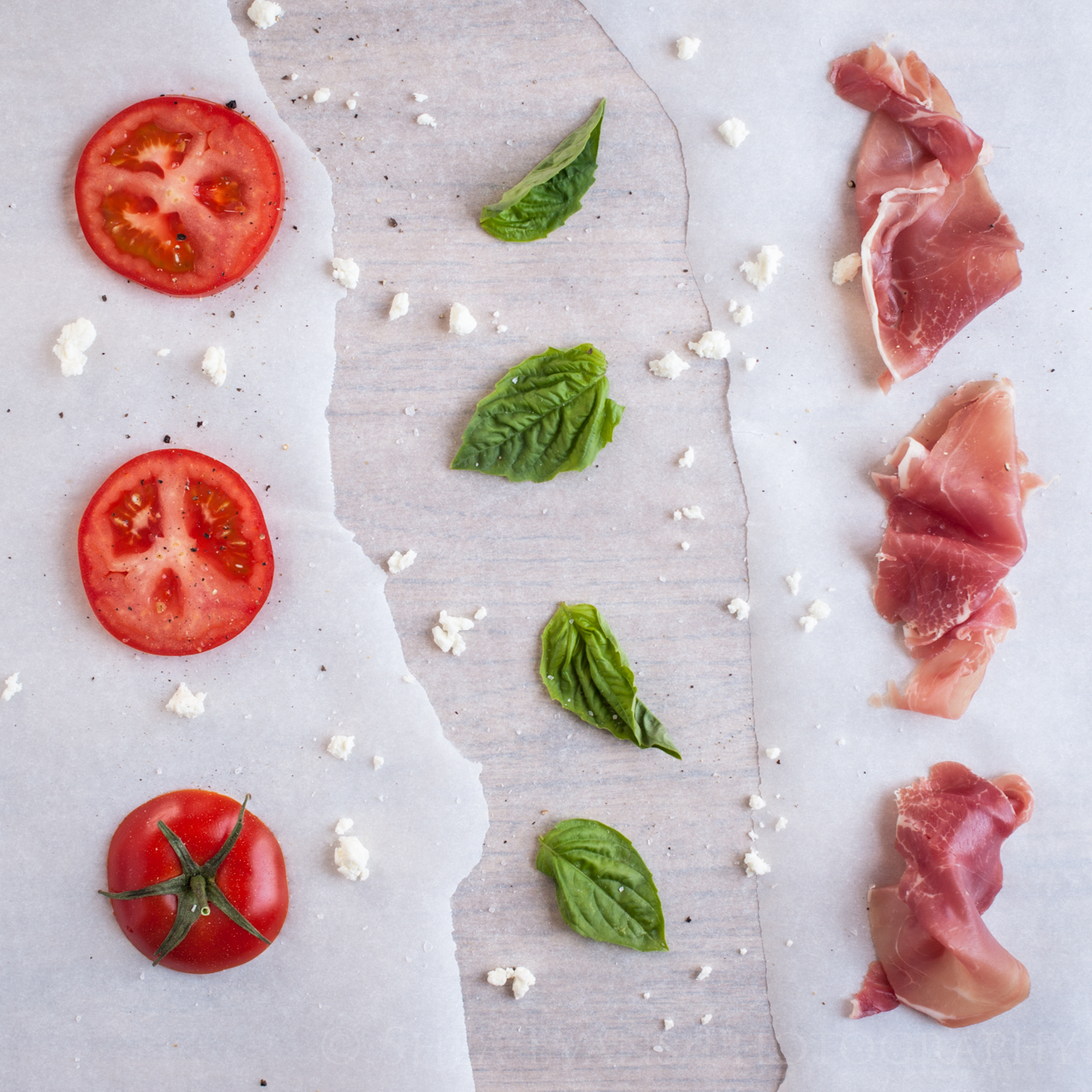 Prosciutto, Goat Cheese, Fresh Basil and Tomato Sandwiches | Cooking ...
