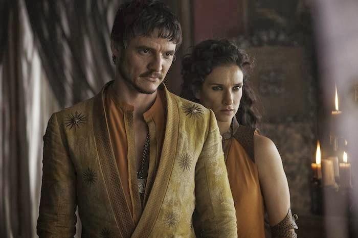 Pedro Pascal es Oberyn Martell e Indira Varma es Ellaria Sand en la cuarta temporada de Juego de Tronos