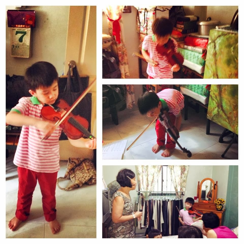 Performance for family during CNY 2014