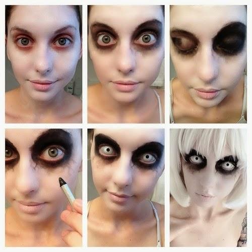 Maquillaje f cil y bonito para halloween belleza y peinados for Pinturas de cara para halloween