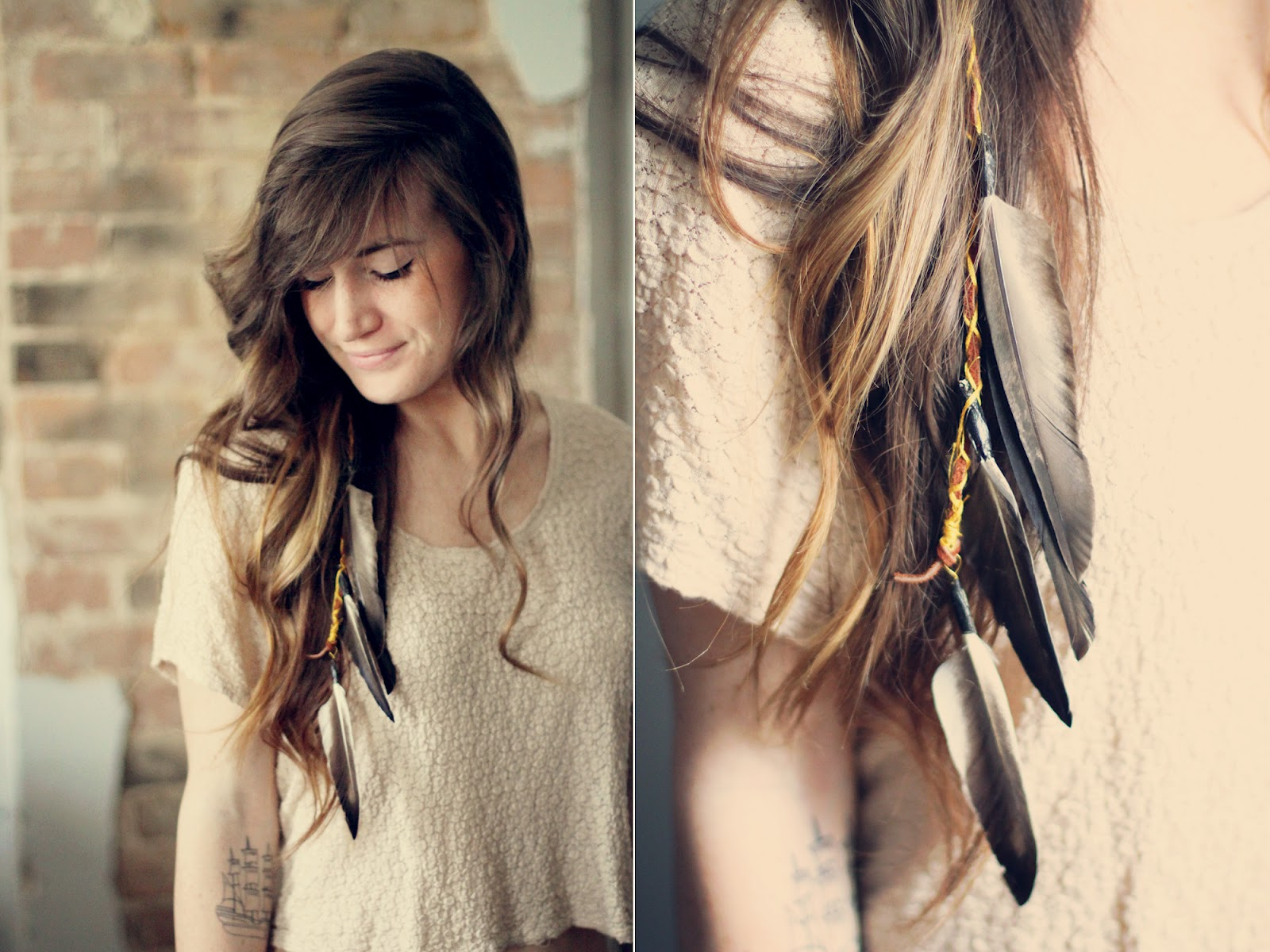 Sincerely Kinsey Boho Feather Hair Clip Diy