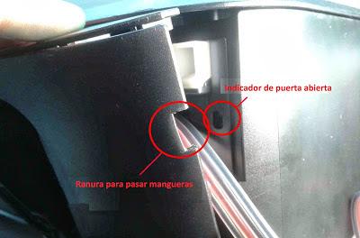respects the door open indicator door sensor