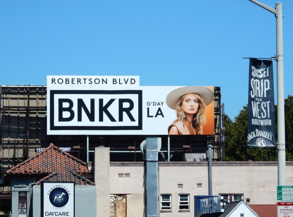 BNKR G'day LA billboard