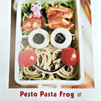 My Epicurean Adventures: Pesto Pasta Frog Lunch #lunchboxfun #lunchboxideas