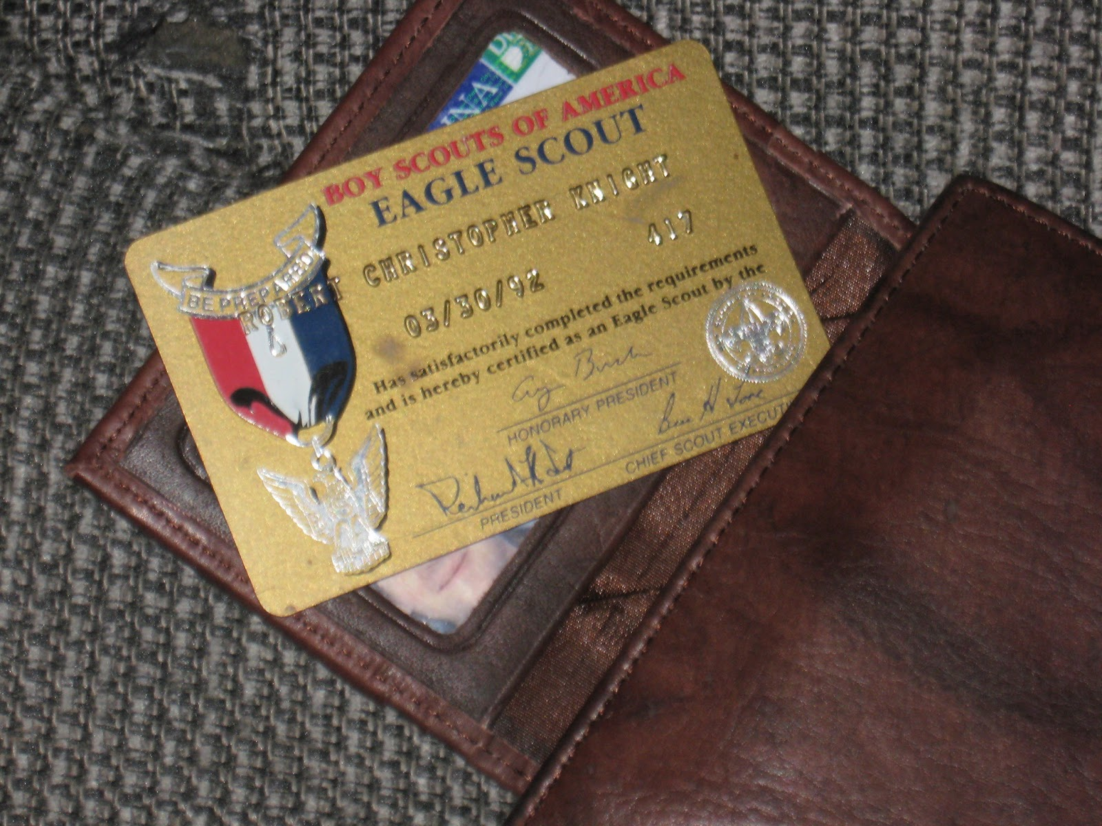 The Knight Shift: This is my Eagle Scout card