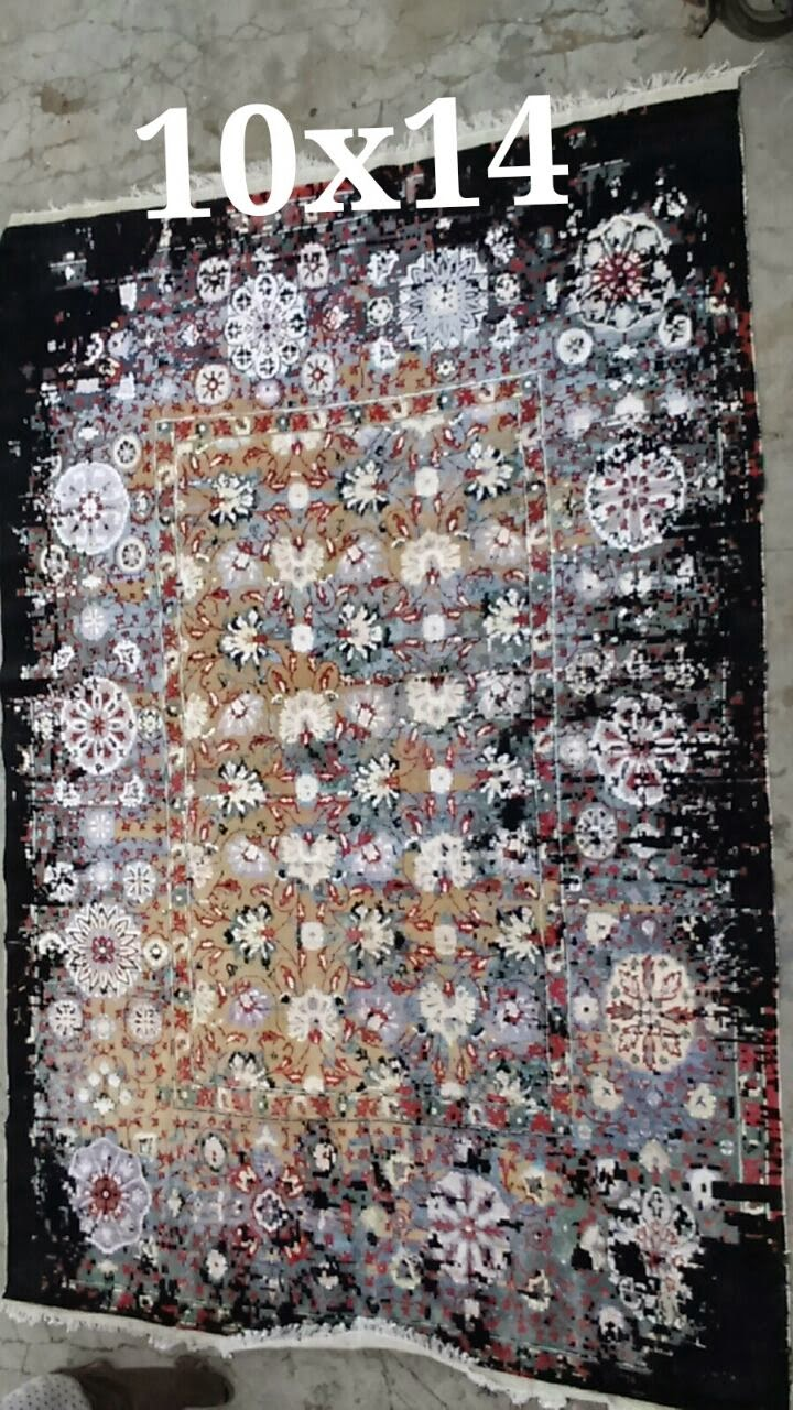 vintage hand-knotted rug