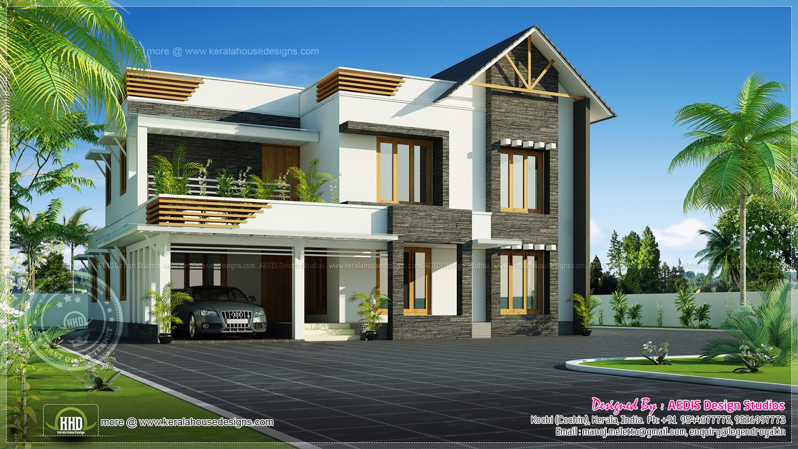 July 2013 kerala home design and floor plans for Sloped roof house plans in india