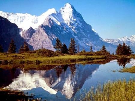 Gambar Pemandangan Alam Terindah di Dunia Gunung Es Salju Abadi Danau Biru