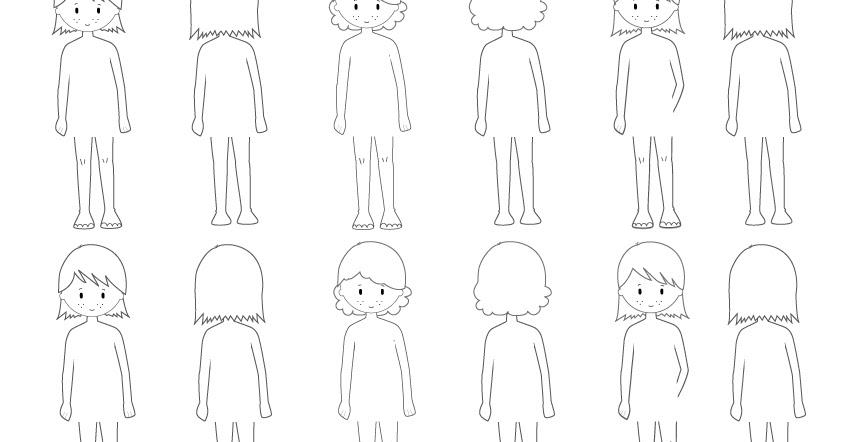 bichoazul: Figurines para diseñar ropa