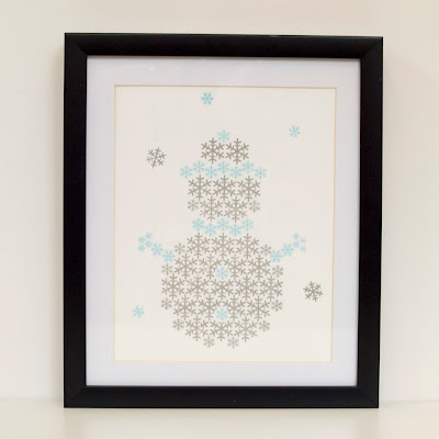 Snowman Christmas screen print