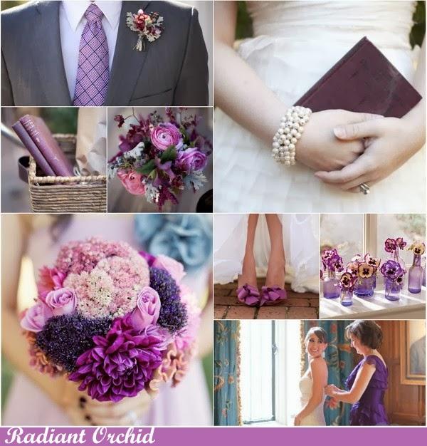 Spring Wedding Colors 2014: Lazy Blogger: Pantone Color 2014 : Hemlock, Radiant Orchid