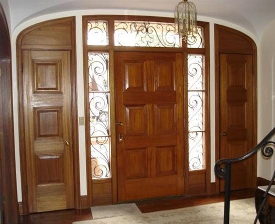 Entry doors with sidelights for Cheap exterior doors