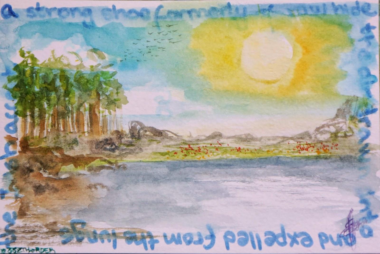 POSTCARD: ON THE LAKE