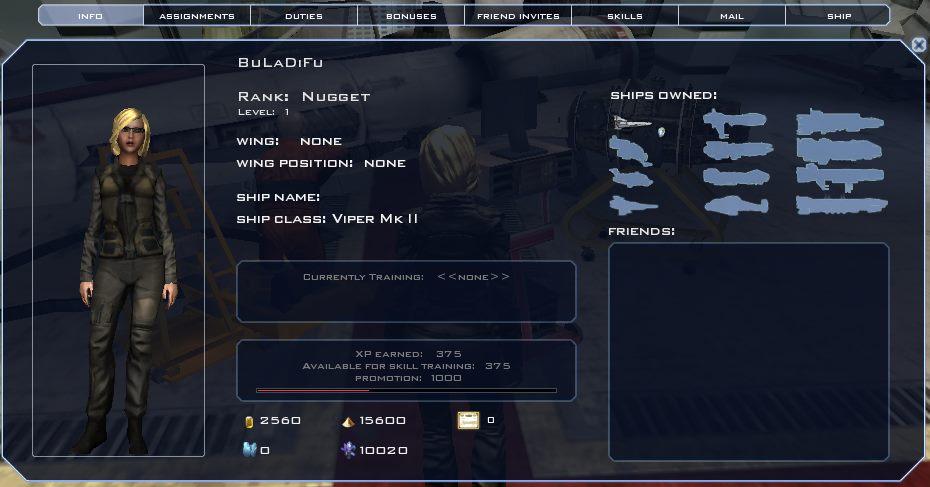 Battlestar Galactica Online - Character Info