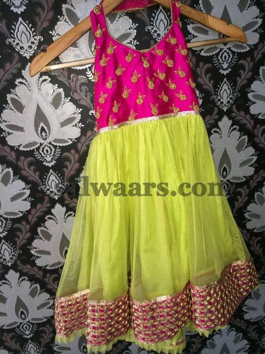 Simple Lemon Yellow Kids Frock