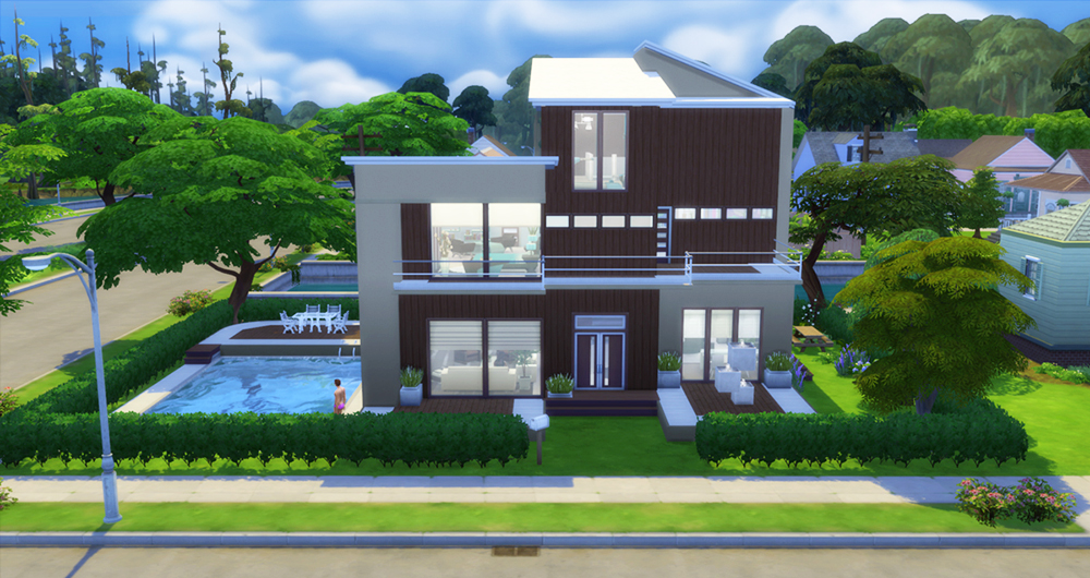 modern natural home sims 4 houses