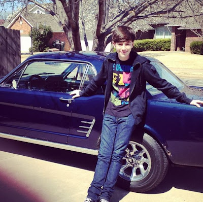 "Greyson Chance and his new ""Moses"" 1966 Mustang Photos"