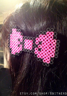 Kawaii Hello Kitty Pink Pixel Hair Bow