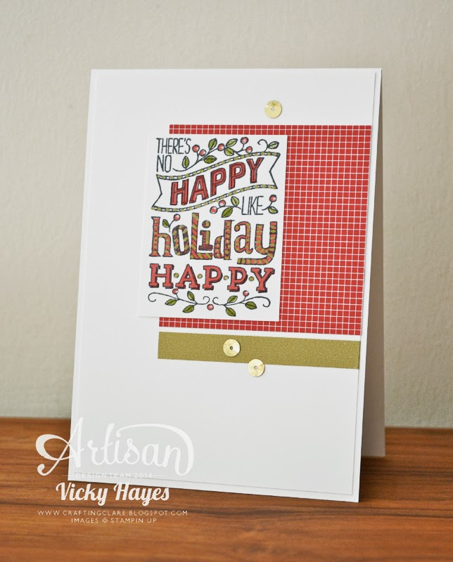 UK Stampin'Up demonstrator Vicky Hayes shows a Mingle All the Way Christmas card