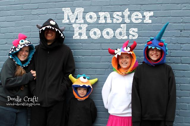 http://www.doodlecraftblog.com/2012/11/monster-hoods-for-family.html