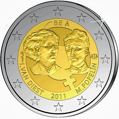 2 Euro Commemorative Coins Belgium 2011 International Women's Day