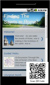 Google Play Smartphone App 'Saints in Rome'