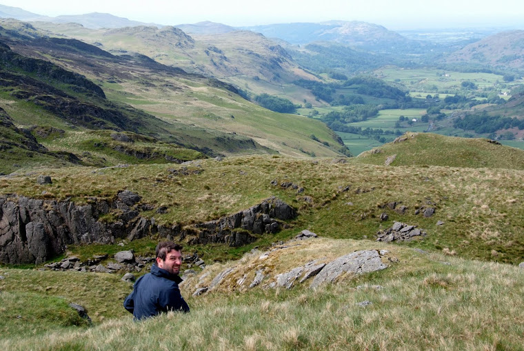 Escaped mental patient at Hardknott Pass, Lake District, Cumbria - photo by Tania Payne