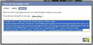 membuat facebook like box di blog