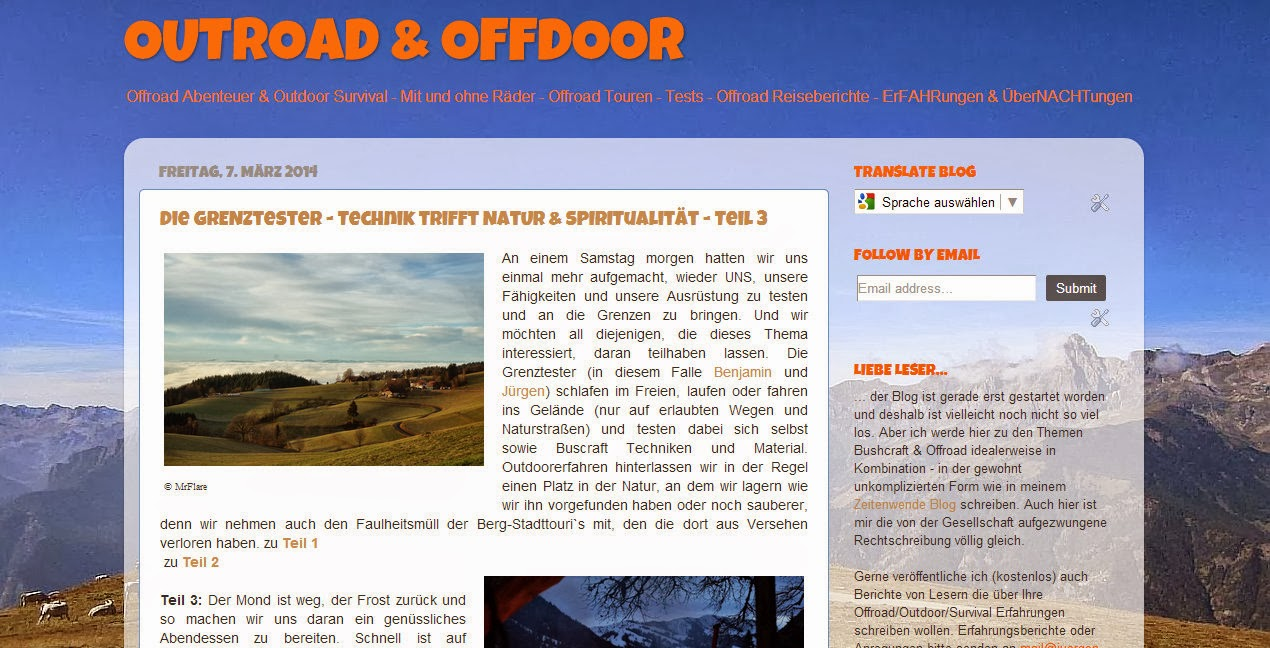 Neuer Blog - Outdoor & Offroad
