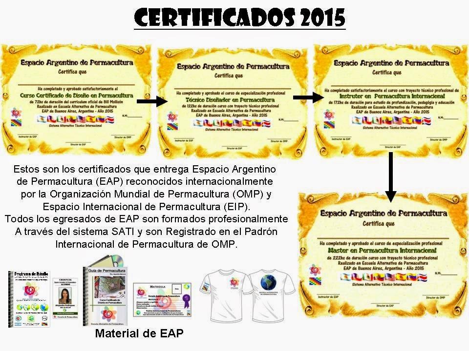 Certificados 2015 de EAP