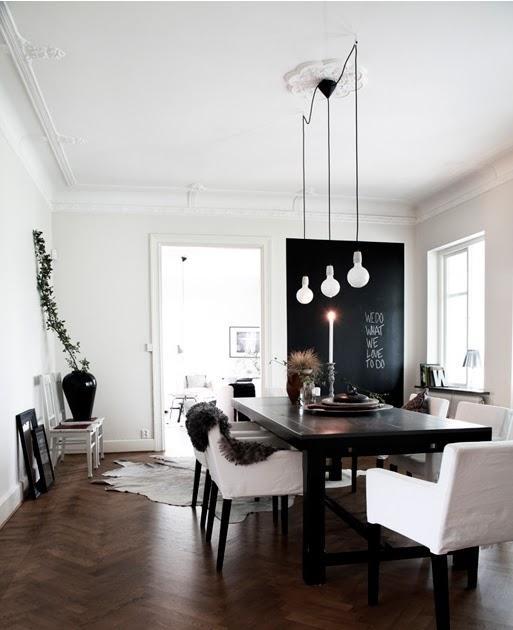 Eettafel inspiratie in zwart wit  u0026 blauw   villa d u0026#39;Esta   interieur en wonen