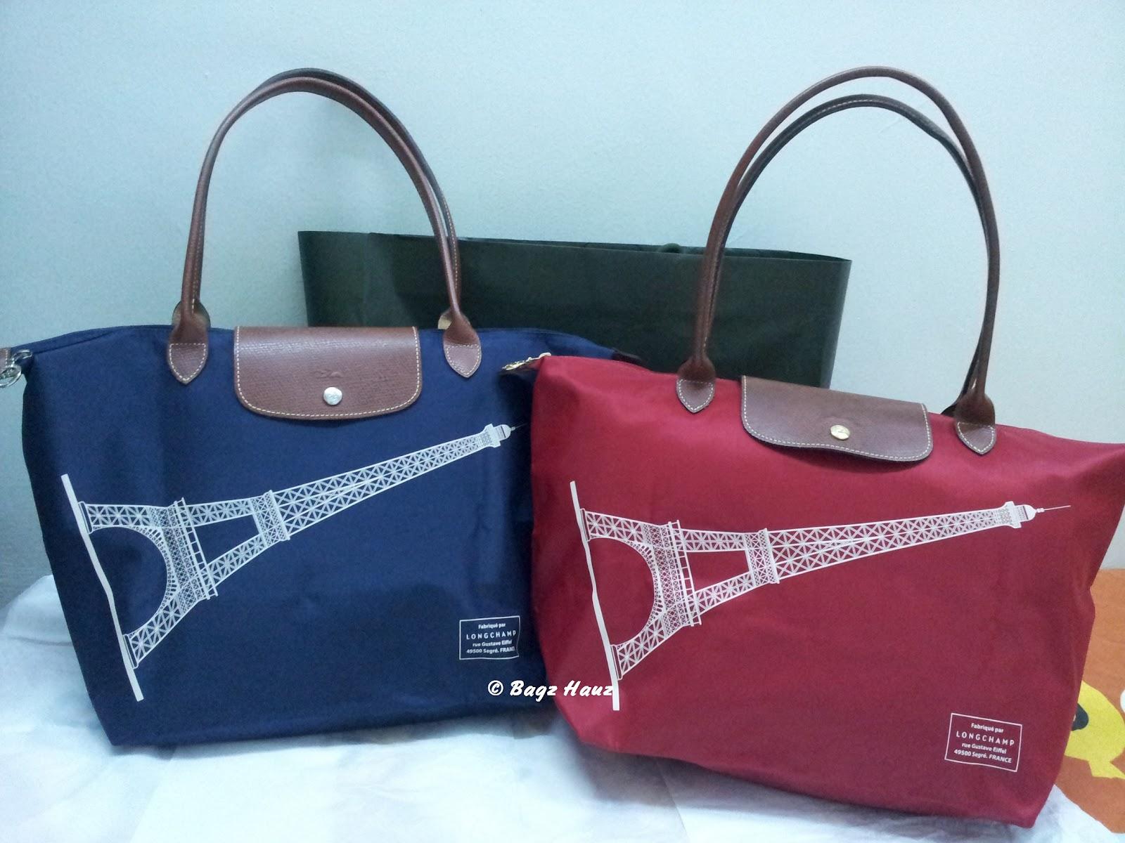Latest Cheap Portable Longchamp Eiffel Tower Handbags Red