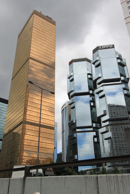 Unique architectural skyline in Hong Kong