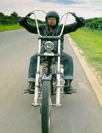 Custom motorcycle handlebars ape hangers 7/8 and controls