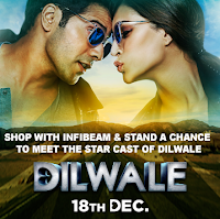 Infibeam : Shop With Infibeam And Stand A Chance To Meet The Star Cast Of Dilwale : BuyToEarn