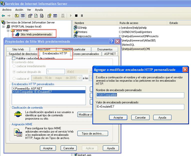 Añadir Cabecera HTTP W2003