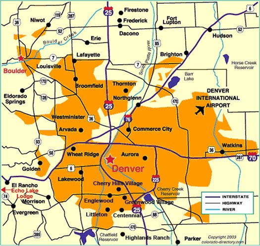 Maps Of Dallas: Denver Map