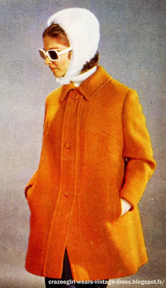 yellow coat 1967 1968 1969 60s 1960 mod