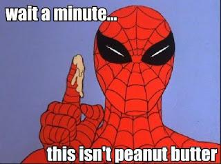 funny spiderman peanut butter