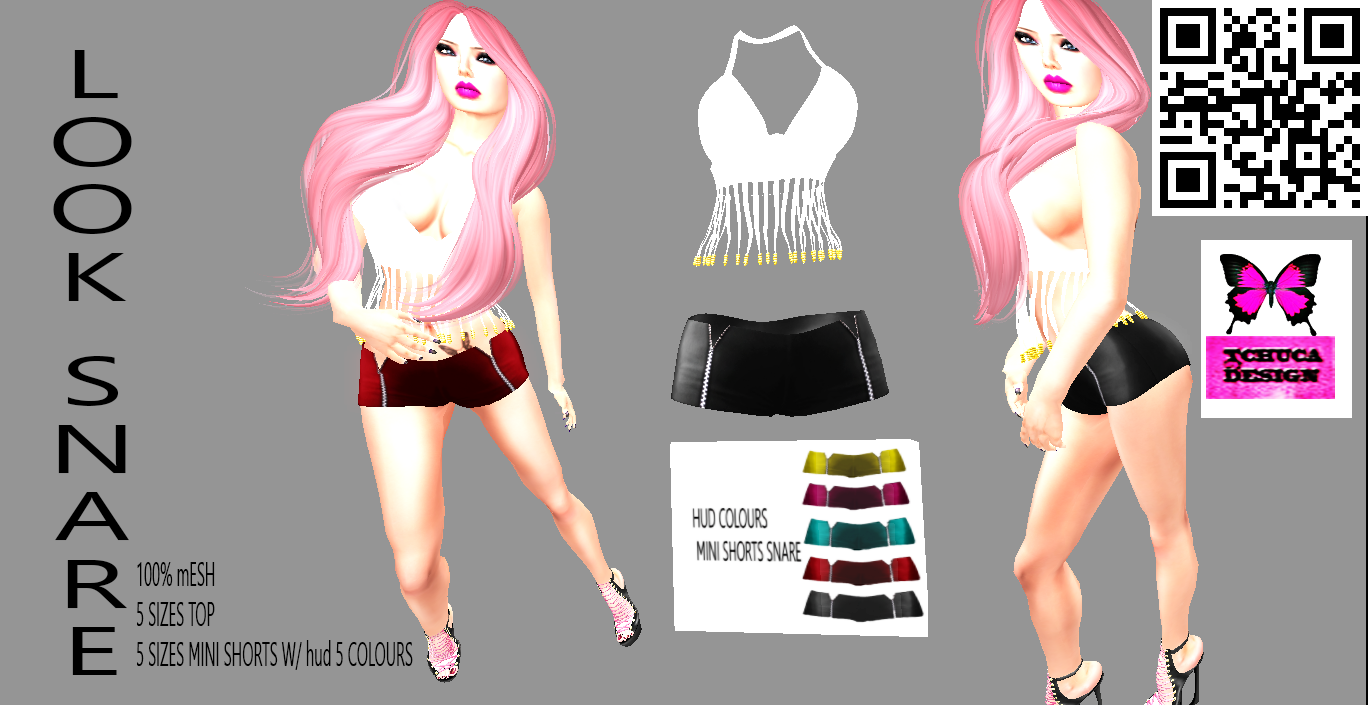 Fique Fashion No Second Life Look Snare Tchuca Design
