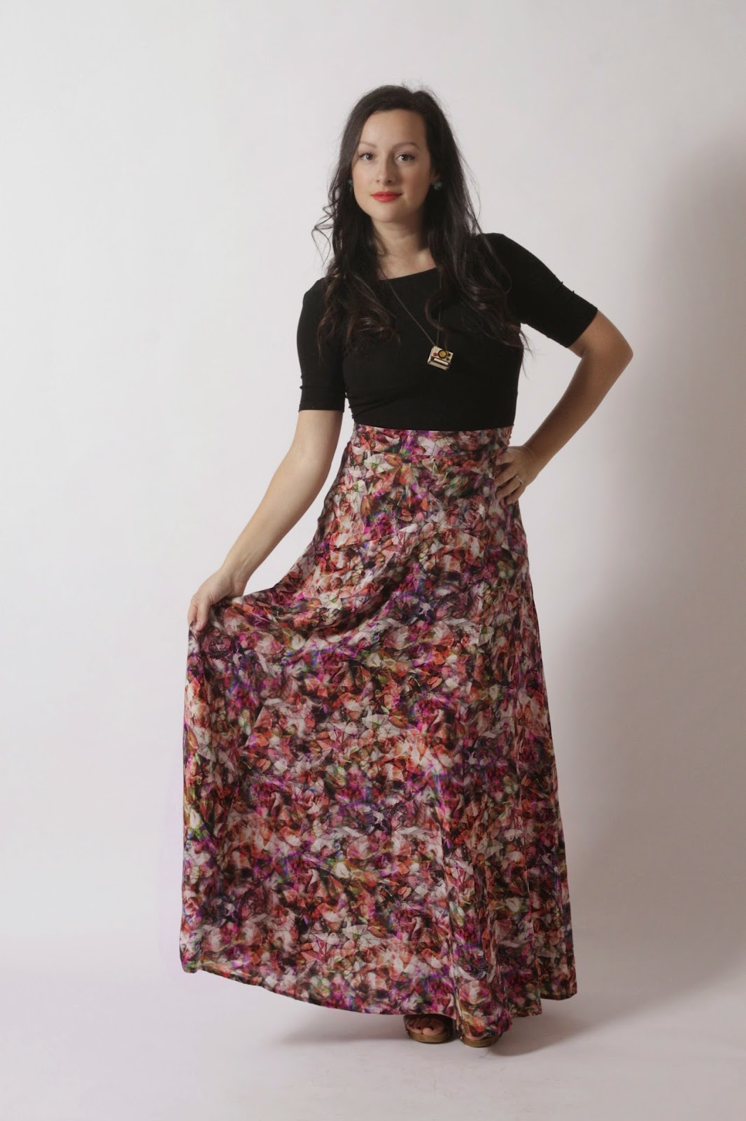 Julia Bobbin - The Gabriola Maxi Skirt by Sewaholic Patterns