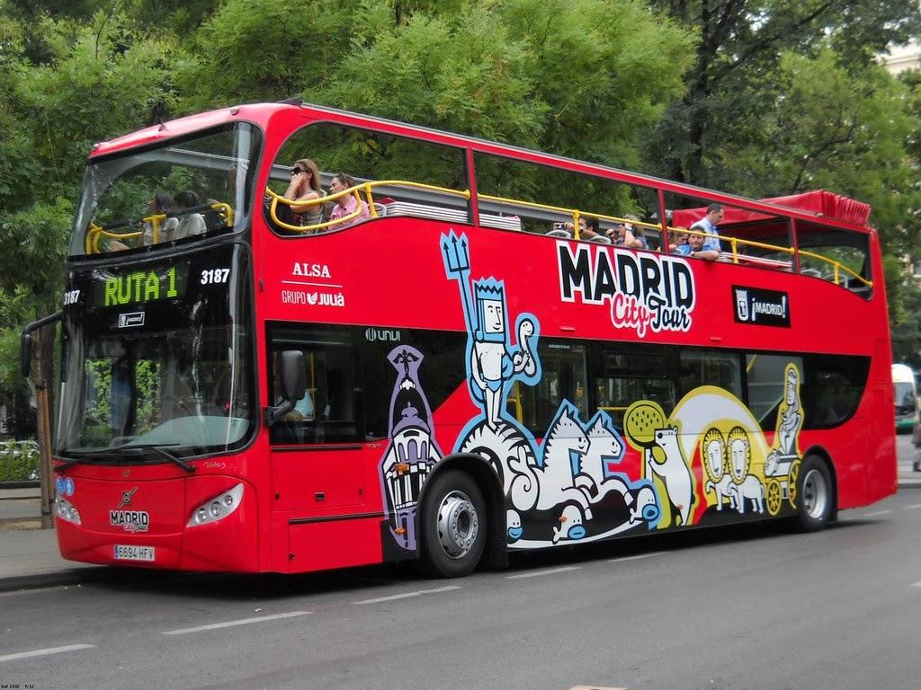 Los bus turísticos en la ciudad de Madrid